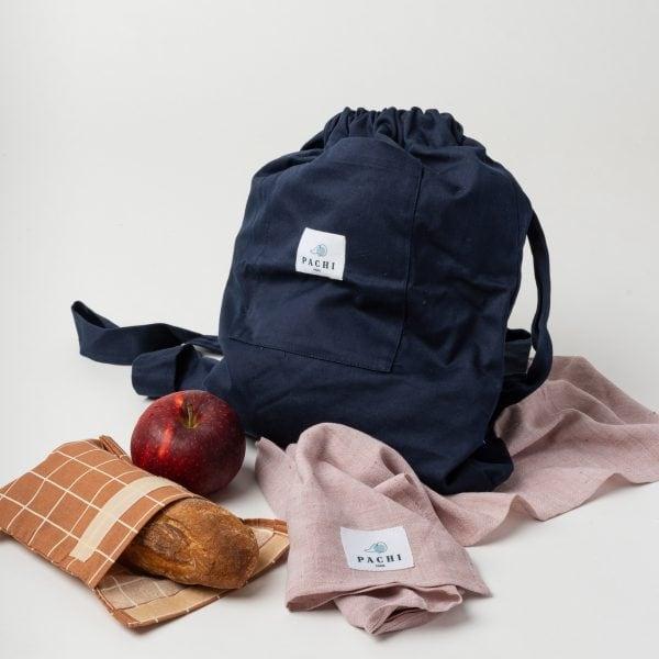 sac à dos pomme et necéssaire pour l'école by Pachi