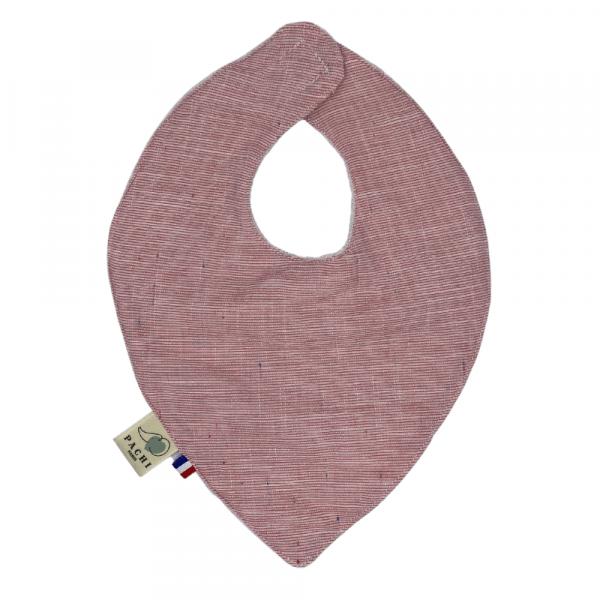 bavoir bandana voile de coton rayé